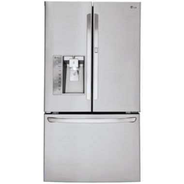 jcpenney.com | LG ENERGY STAR® 29.6 cu. ft. Super Capacity 3-Door French Door Refrigerator with Door-in-Door Design