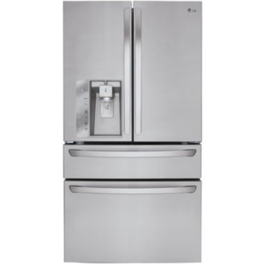 jcpenney.com | LG ENERGY STAR® 29.9 cu. ft. Super Capacity 4-Door French Door Refrigerator with CustomChill® Drawer