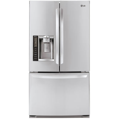lg energy star 198 cu ft large capacity 3door french door counter depth lfx21976st jcpenney
