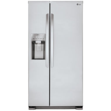 "jcpenney.com | LG ENERGY STAR® 21.9 cu. ft. 33"" Wide Side-by-Side Refrigerator with Ice and Water Dispenser"