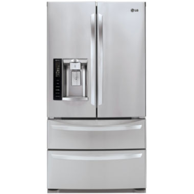 jcpenney.com | LG ENERGY STAR® 27 cu. ft. Ultra Large 4-Door French-Door Refrigerator