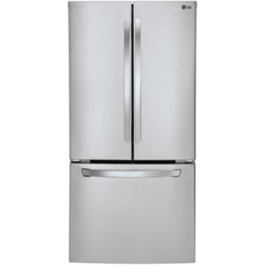 "jcpenney.com | LG ENERGY STAR® 23.9 cu. ft. 33"" Wide French Door Refrigerator"