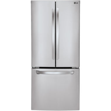"jcpenney.com | LG ENERGY STAR® 21.8 cu. ft. 30"" Wide French Door Refrigerator with Multi-Air Flow Cooling"