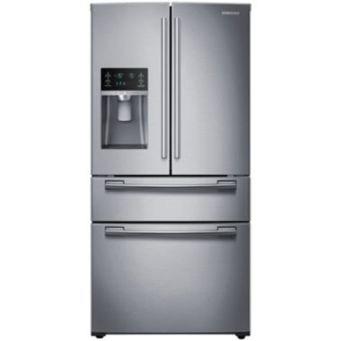 "jcpenney.com | Samsung ENERGY STAR® 25 cu. ft. 33"" Wide 4-Door French Door Refrigerator"