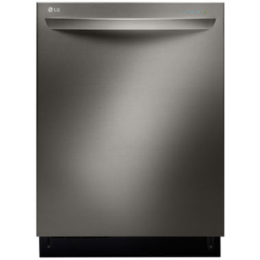 jcpenney.com | LG ENERGY STAR® Black Stainless Series Fully-Integrated TrueSteam™ Dishwasher EasyRack™ Plus System