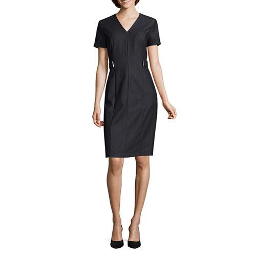 Studio 1 Short Sleeve Sheath Dress