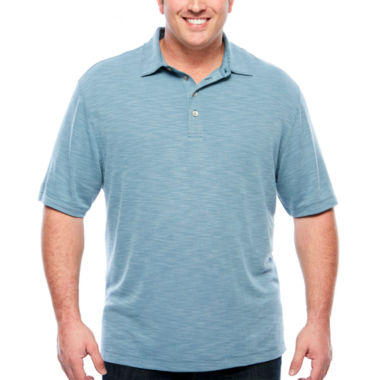 jcpenney.com | Van Heusen Short Sleeve Two Tone Textured Slub Box Polo- Big and Tall