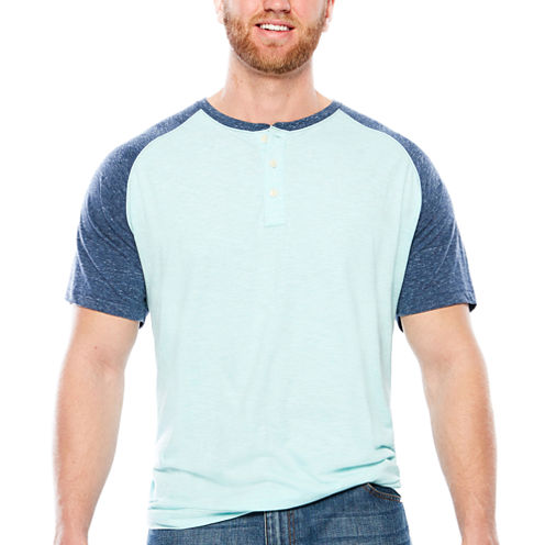 The Foundry Big & Tall Supply Co.Colorblock Henley T-Shirt