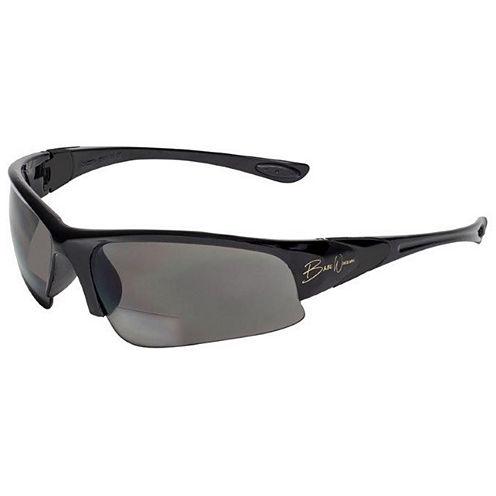 BluWater Babe 1 Sunglasses Black Frame w/ Gray Polarized Bifocal 2.5 Lens