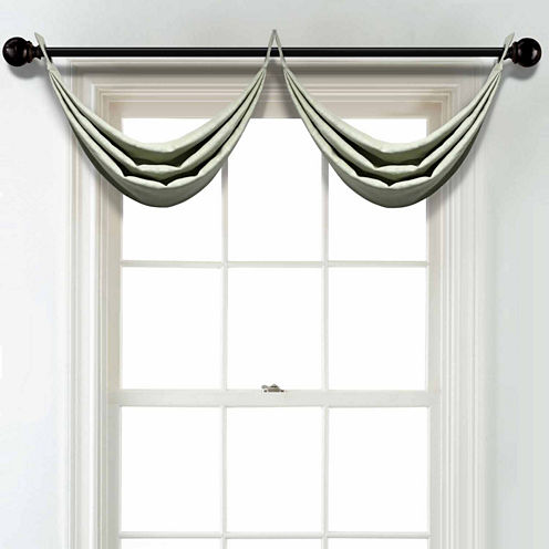 JCPenney Home Linen Grommet Poly-Cotton Lined Waterfall Valance
