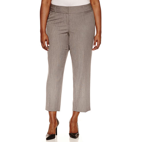 Worthington® Curvy Fit Ankle Pants - Plus