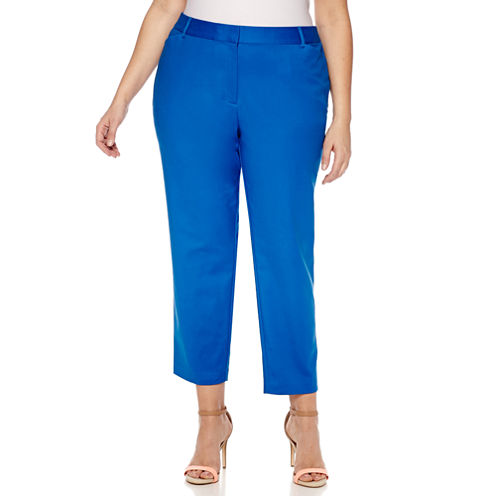 "Liz Claiborne Slim Fit Ankle Pants-Plus (27"")"