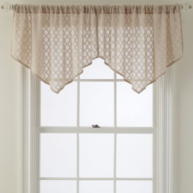 jcpenney.com | Royal Velvet® Stanza Rod-Pocket Ascot Valance