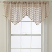 Royal Velvet® Stanza Rod-Pocket Ascot Valance