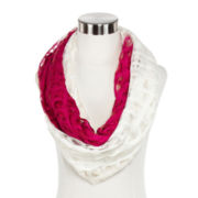 Textured Ombre Print Infinity Scarf