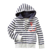OshKosh B'gosh® Striped Anchor Hoodie - Girls 2t-4t