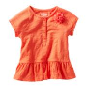 OshKosh B'gosh® Short-Sleeve Peplum Top - Girls 2t-4t