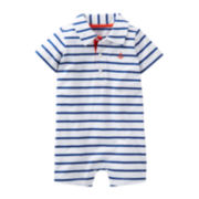 Carter's® Striped Anchor Romper - Boys newborn-24m