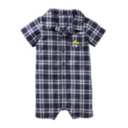 Carter's® Plaid Submarine Romper - Boys newborn-24m
