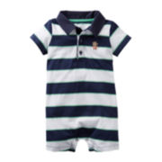 Carter's® Striped Monkey Romper - Boys newborn-24m