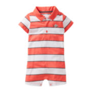 Carter's® Striped Shark Romper - Boys newborn-24m