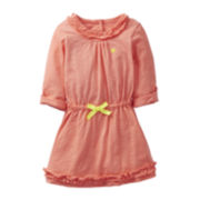 Carter's ¾-Sleeve Ruffled Dress - Girls 5-6x