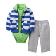 Carter's® Striped 3-pc. Cardigan Set - Boys newborn-24m