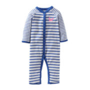 Carter's® Crab Footless Sleep and Play - Girls newborn-9m