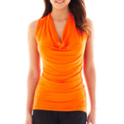 Bisou Bisou® Cowlneck Knit Tank Top