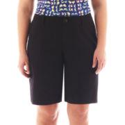 Liz Claiborne® Chino Twill Bermuda Shorts - Plus