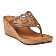 Clarks® Mimmey Anne Cork Wedge Sandals