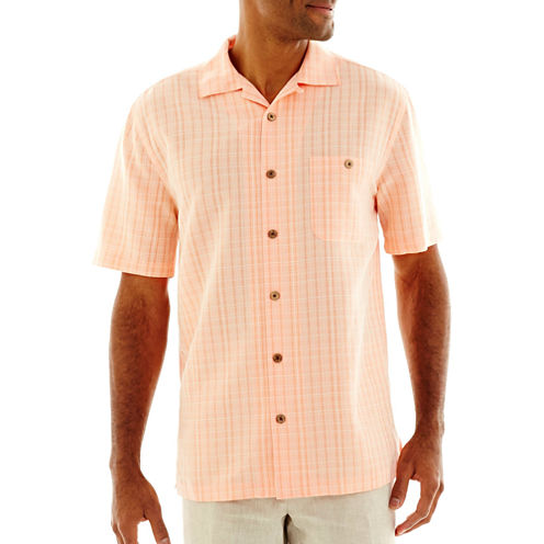 Island Shores™ Tropical Tonal Plaid Shirt