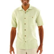 Island Shores® Tropical Tonal Plaid Shirt