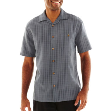 jcpenney.com | Island Shores™ Tropical Tonal Plaid Shirt