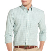 IZOD® Essential Gingham Button-Front Shirt