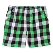 Okie Dokie® Plaid Shorts - Boys newborn-24m