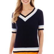 Stylus™ Short-Sleeve Tennis Sweater