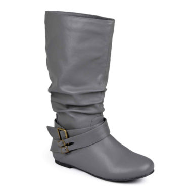 jcpenney.com | Journee Collection Shelley 5 Buckle-Accented Slouch Boots