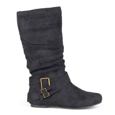 jcpenney.com | Journee Collection Shelley 6 Buckle-Accented Mid-Rise Slouch Boots