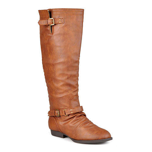 Journee Collection Stella Buckle-Strap Knee-High Riding Boots