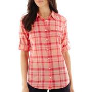 St. John's Bay® 3/4-Sleeve Campshirt