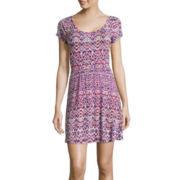 Decree® Short-Sleeve Cross-Back Skater Dress
