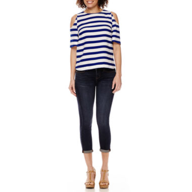 jcpenney.com | Stylus™ Cold-Shoulder T-Shirt or Skinny Ankle Jeans