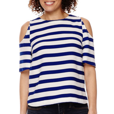 jcpenney.com | Stylus™ Short-Sleeve Cold-Shoulder T-Shirt