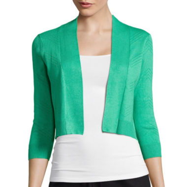 jcpenney.com | RN Studio by Ronni Nicole 3/4-Sleeve Chevron Shrug