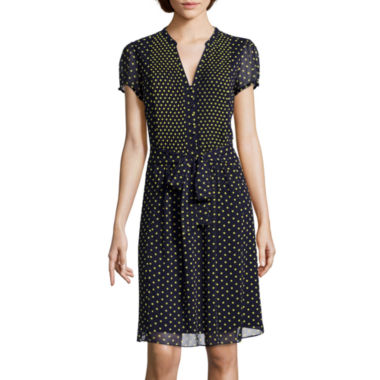 jcpenney.com | MSK Short-Sleeve Polka Dot Shirtdress