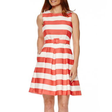 jcpenney.com | R&K Originals® Sleeveless Stripe Fit-and-Flare Dress