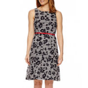 Ronni Nicole Sleeveless Printed Fit-and-Flare Dress