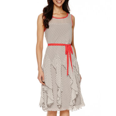 jcpenney.com | Robbie Bee® Sleeveless Stripe Fit-and-Flare Dress