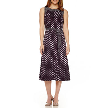 jcpenney.com | Perceptions Sleeveless Polka Dot A-Line Dress